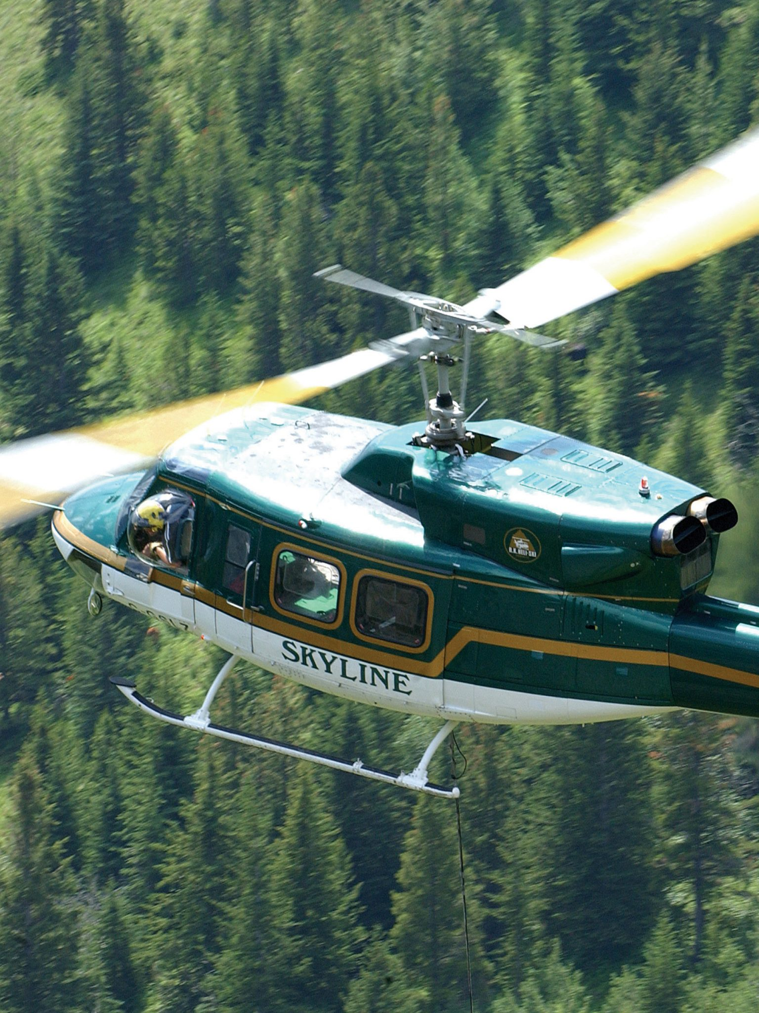 Skyline Helicopters heli skiing holidays hydro forestry tours Kelowna Terrace BC