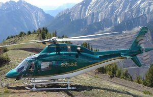 Skyline Helicopters AgustaA119Koala Skyline Helicopters Bell212HP heli skiing holidays hydro forestry tours Kelowna Terrace BC