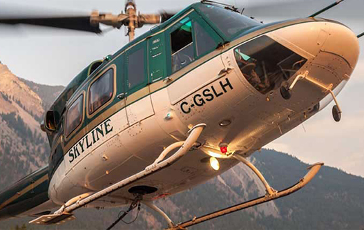 Skyline Helicopters Bell212HP Skyline Helicopters heli skiing holidays hydro forestry tours Kelowna Terrace BC